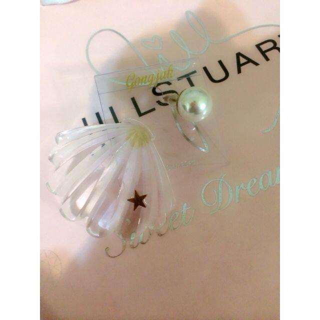 貝殼珍珠耳環
