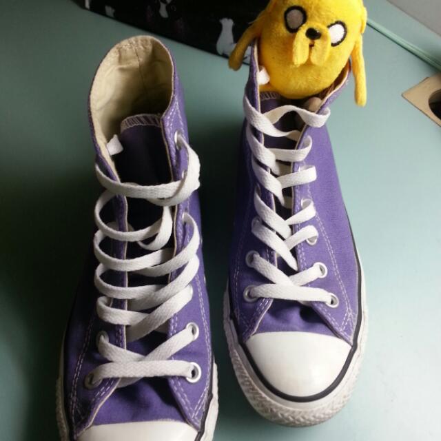 降價 CONVERSE/ALL STAR 紫色高統鞋
