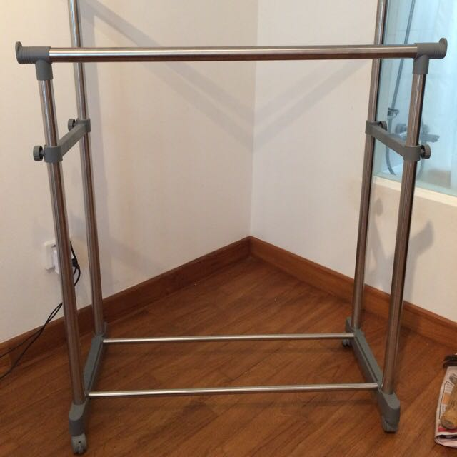 Double Clothes Rack. Sturdy