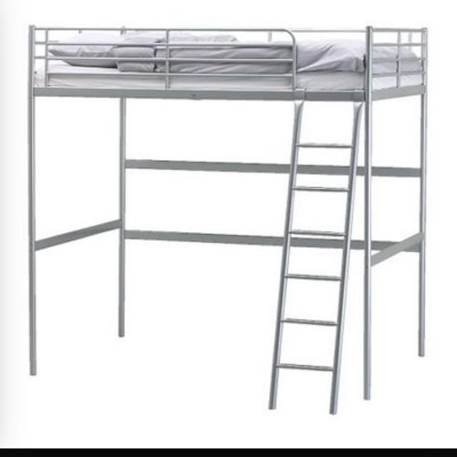 Ikea Metal Loft Bed For Sale Reserved Furniture Home Living Furniture Bed Frames Mattresses On Carousell
