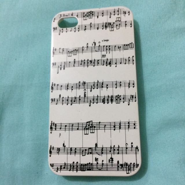 Iphone 4 Casing Music Notes