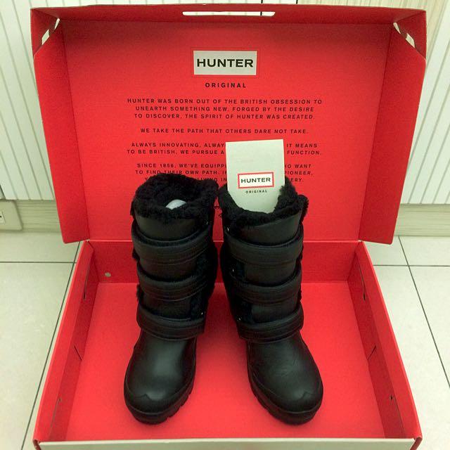 [new]HUNTER黑色皮靴(降價囉)
