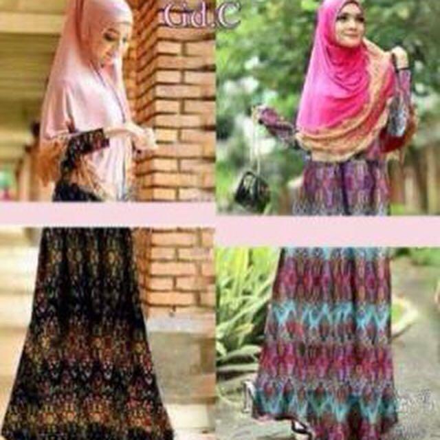 Setelan Batik Syari