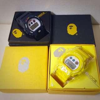 APE X G-SHOCK 手錶 隨便賣!!(代售)