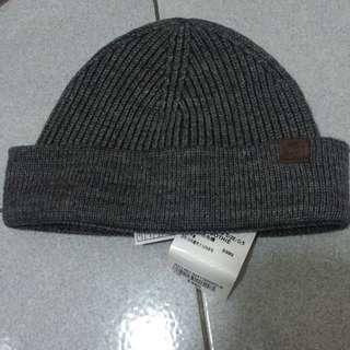 Roots帽子毛帽淺灰色素面全新百搭造型保暖