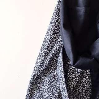 Handmade Tote Bag In Olive Prints