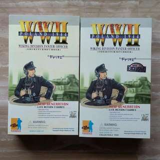 1/6 DRAGON MODELS DML ACTION FIGURE - FRITZ GERMAN TANK COMMANDER - RARE FIRST RELEASE NORMAL AND EXCLUSIVE