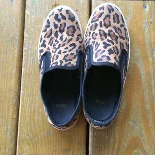 Asos豹紋懶人鞋 平底鞋 36號 Vans/toms