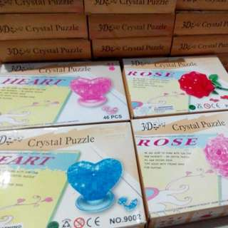 3D Crystal Puzzle Rose (Valentine, Birthday, Christmas gift)