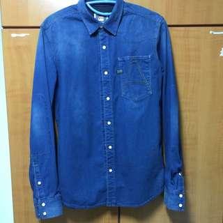 3d43a6a260d G Star Raw Denim 3D Arc Long Sleeve Denim Shirt
