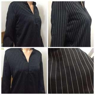 👔V領長版襯衫