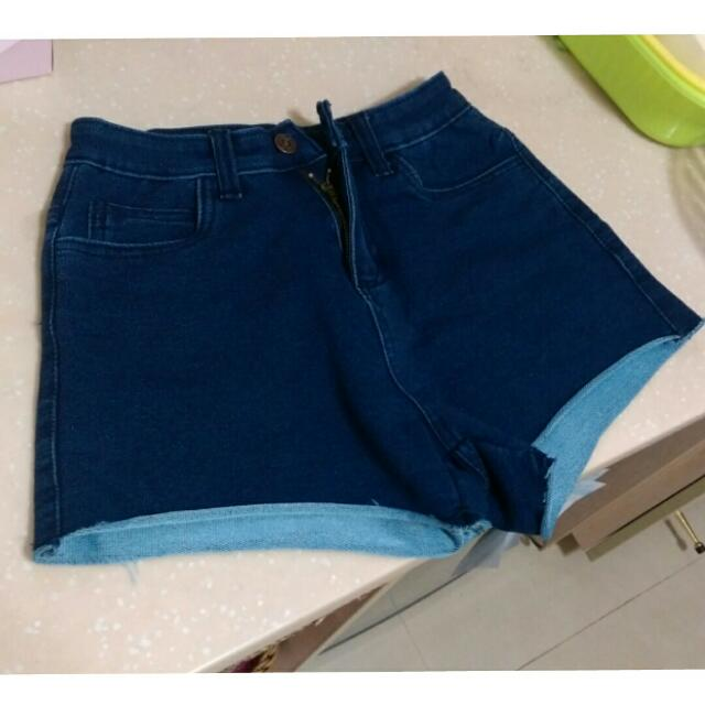 超彈性牛仔短褲