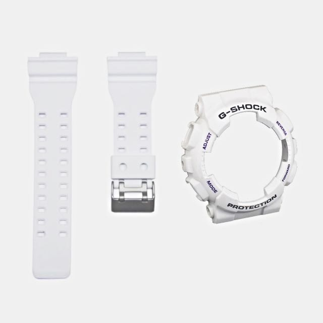 Casio Original Shiny White Band Bezel For Gd 100sc 7 Ga 100