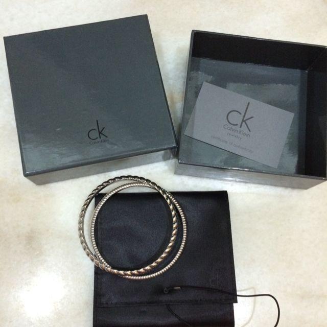 全新CK Calvin Klein 不鏽鋼手環x2