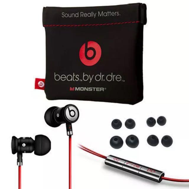 e9472a98398 New Monster Beats by Dr Dre urBeats In Ear Headphones Earphones Black,  Bulletin Board, Preorders on Carousell