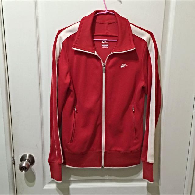 (保留中)NIKE紅色運動外套(女款)