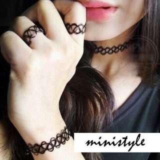 🇺🇸復古簍空 手環戒指項鍊
