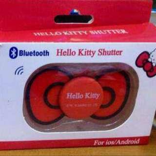 Hello Kitty 蝴蝶结藍牙自拍杆遥控器-蘋果安卓通用