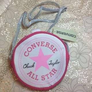 Converse粉紅小斜背包