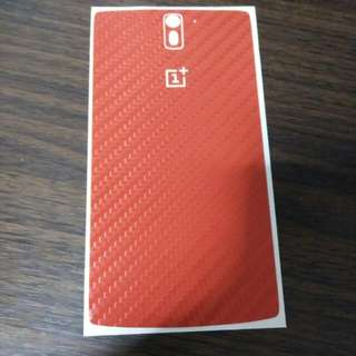 Oneplus One Red Carbon Fibre Dbrand Skin