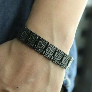 Fashion Titanium Magnetic Health Energy Bracelet NL8485B - Relieve Stress, Improve Blood Circulation, More Restful Sleep and Pain Relief.