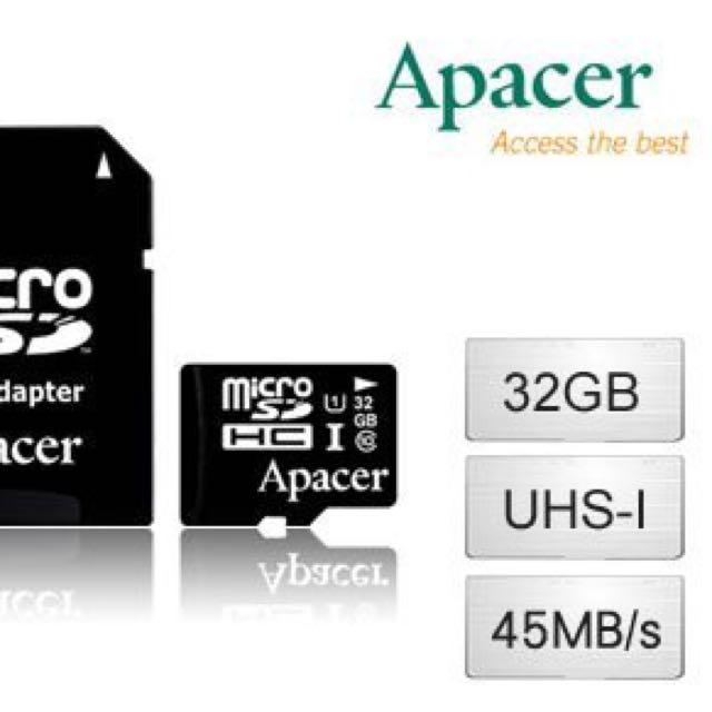 【宇瞻】32GB MicroSDHC UHS-I Class10 記憶卡