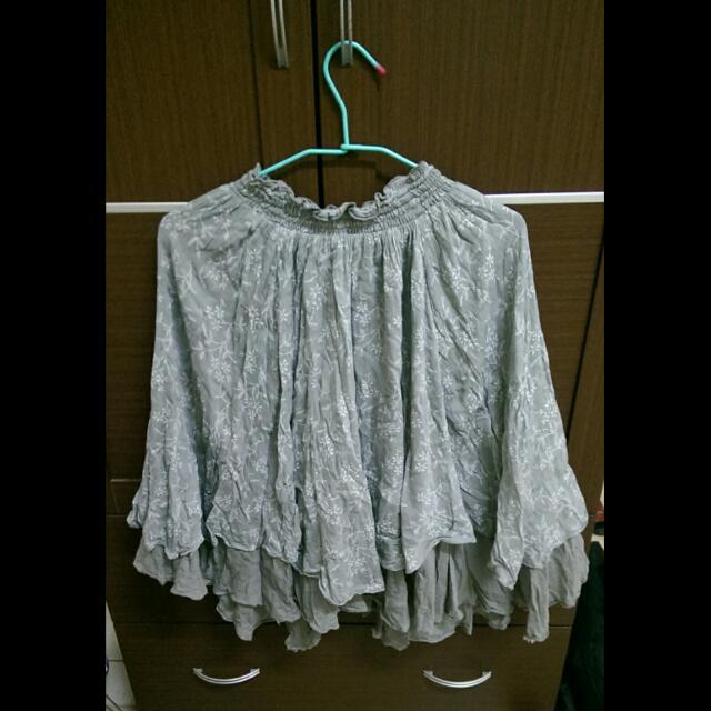 波浪裙襬半身長裙