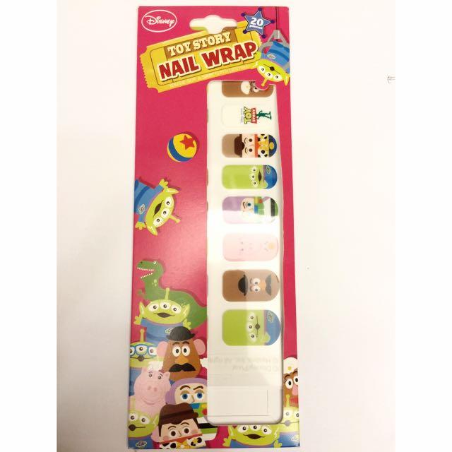 全新 正品 20隻手指用 玩具總動員指甲貼片