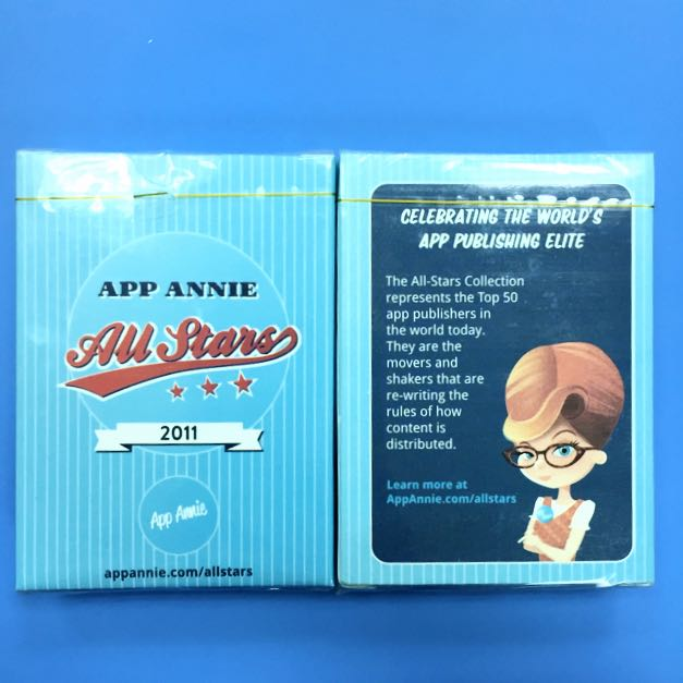 App Annie 全球App權威 撲克牌 絕版品