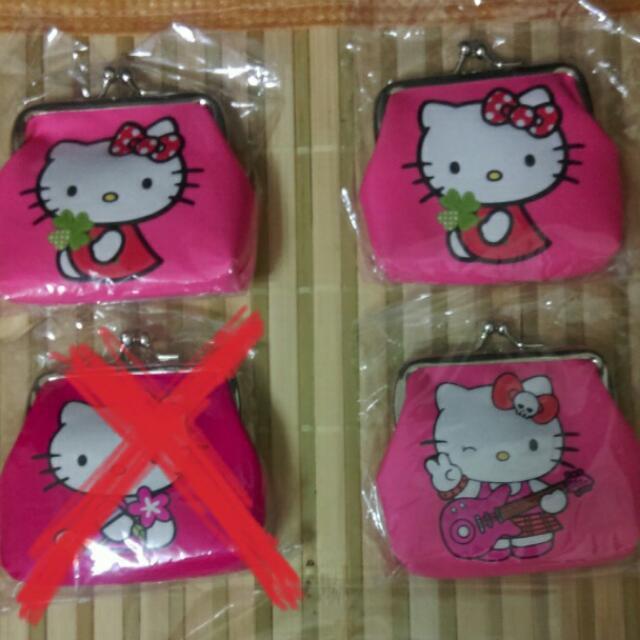 Hello Kitty珠釦小零錢包