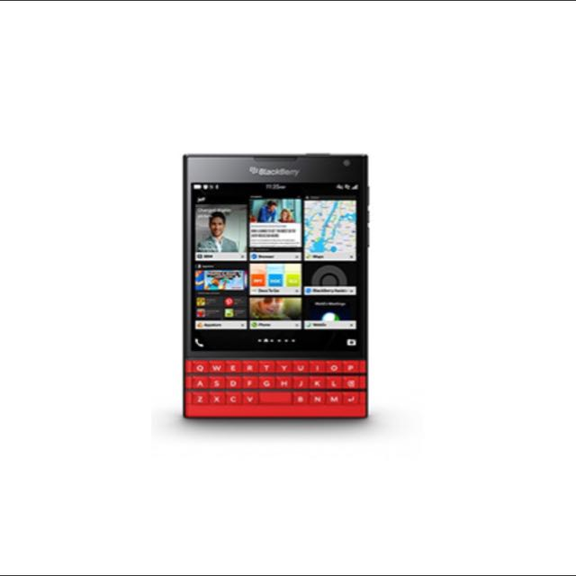 Brand New Limited Edition Red BlackBerry Passport (Local Set