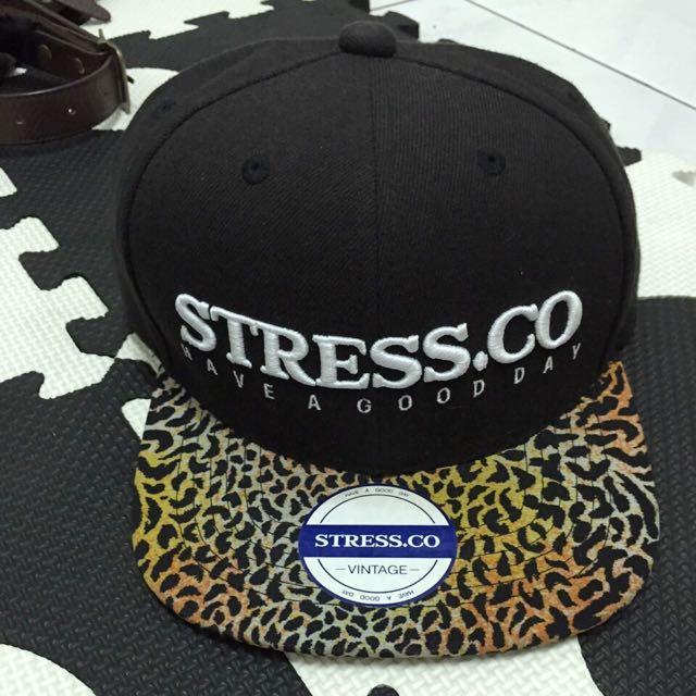 STRESS.CO豹紋帽子
