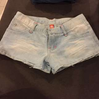 Light Denim Hot Pants