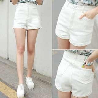 新✨白色高腰短褲