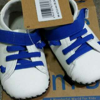 Infant Shoe (White/Blue)