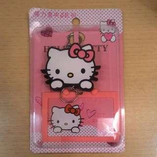全新 Hello Kitty 大頭 可愛伸縮卡夾 識別證夾 悠遊卡匣
