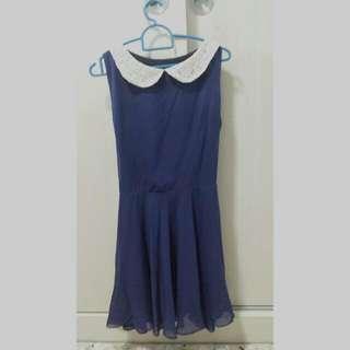 Peterpan Lace Collar Dress