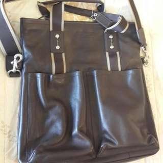 COACH牛皮手提肩背兩用包(七個收納袋)專櫃購買