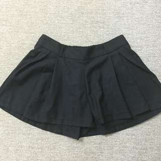 全新黑色褲裙