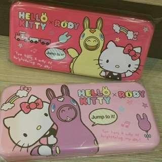 (預購)Kitty+Rody雙層 大鉛筆盒