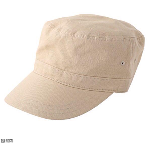 無印良品 軍帽 帽子 米色 Muji