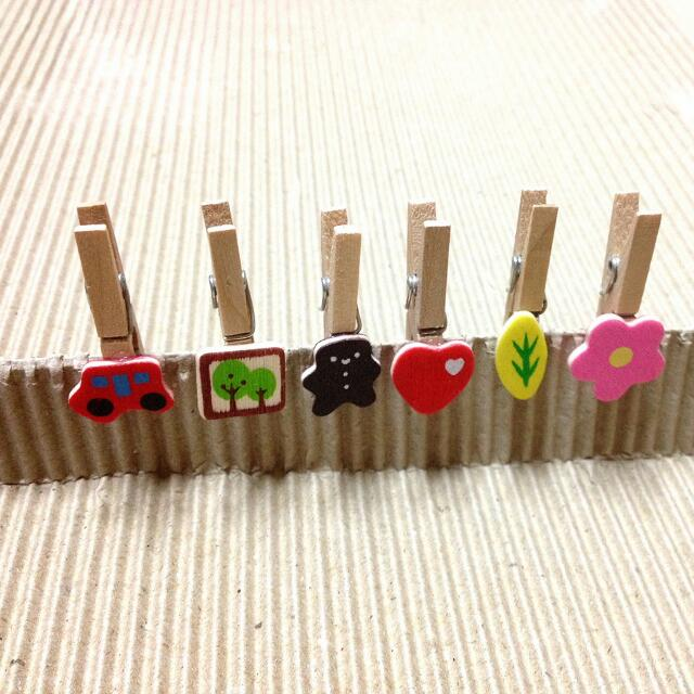 可愛素材 小木夾 留言夾 拍立得夾 6支1組  @2.5/支