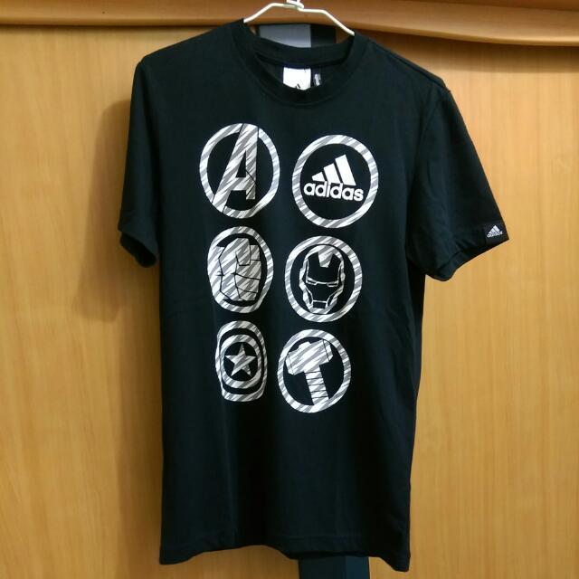 ※二手※ Adidas 復仇者聯盟 黑色潮流T-shirt S號
