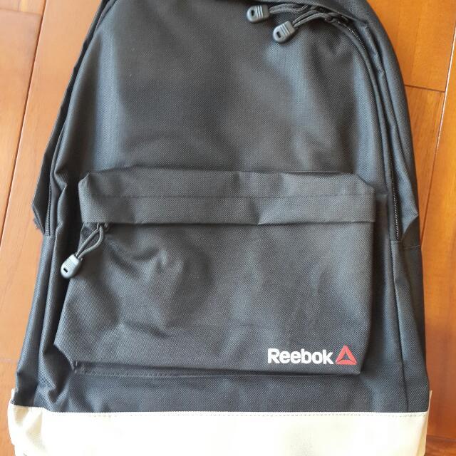 REEBOK全新黑色帆布後背包精典款