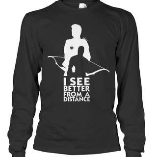 The Avengers(Hawkeye)Black  Long Sleeve Shirt LIMITED EDITION (NEW)-$60(INSTOCK)