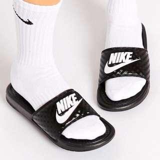 Nike 拖鞋 黑白 格紋 全新現貨 正版 Us8