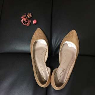 ✨La new金箔色平底鞋✨