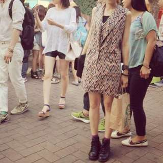 犀利時尚-閃電襯衫款無袖外套