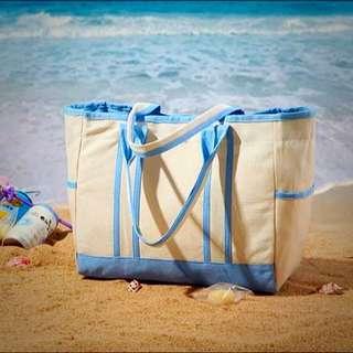 現貨日系大方包 水餃包 沙灘包