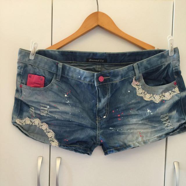 代售 小蕾絲短褲(棉花糖女孩的褲子)XXXXXL 大尺碼